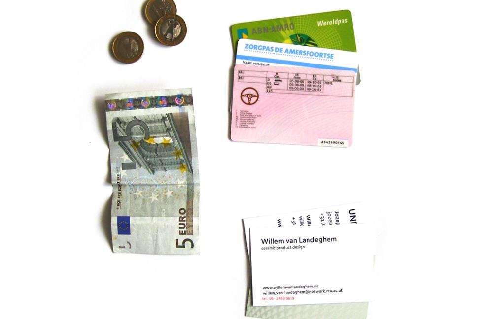Wenslijst Willem, inhoud portemonnee