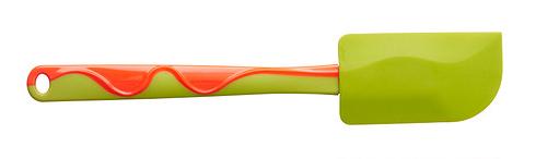 Spatel Gubbröra in de kleur groen/oranje
