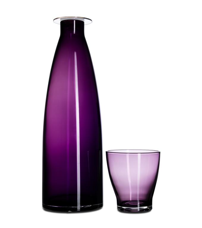 Mildra fles met Mildra glas paars
